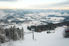 Góry narciarski dźwignięcie Obrazy Stock