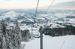 Góry narciarski dźwignięcie Zdjęcie Stock