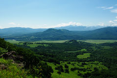 Góry nieba krajobrazowy lasowy lato Zdjęcie Stock