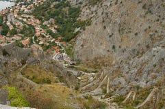 góry nożny miasteczko Zdjęcie Royalty Free