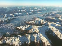 Góry od above Obrazy Royalty Free
