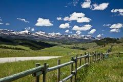 Góry ogrodzenie Obraz Royalty Free