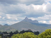 Góry ostrzeżenie Zdjęcia Royalty Free