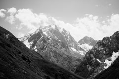 Góry Północny Kaukaz Dombai Obrazy Royalty Free