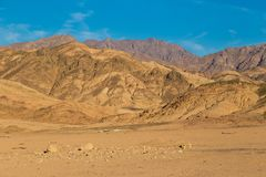 Góry półwysep synaj sinai pustynia Egipt Zdjęcia Royalty Free