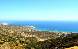 Góry panorama Grecja, wyspa Crete Obraz Stock