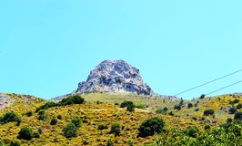 Góry panorama Grecja, wyspa Crete Zdjęcie Stock