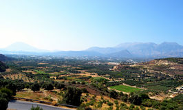 Góry panorama Grecja, wyspa Crete Obrazy Royalty Free