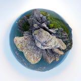 Góry panoramy mała planeta Zdjęcie Stock