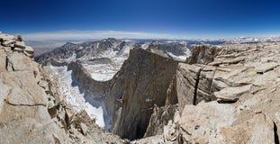 góry panoramy szczyt Whitney Obraz Stock