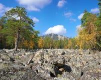 Góry Południowi Urals zdjęcia stock
