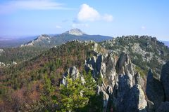 Góry Południowi Urals Rosja fotografia stock