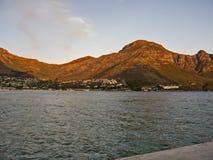 Góry podczas zmierzchu, obozu Bey, Kapsztad, Południowa Afryka Obraz Stock