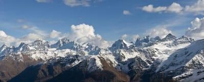 Góry, podróż, natura, piękny miejsce, icefall, grań zdjęcie royalty free