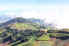 Góry pokrywa mgłą Obraz Stock
