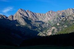 Góry Powell zmierzchu Kolorado Skaliste góry Fotografia Royalty Free