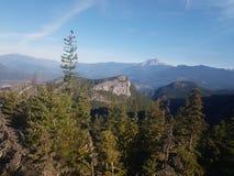 Góry powietrze fotografia stock