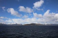 Góry przy Beagle kanałem w Patagonia Chile obrazy royalty free