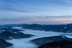 Góry przy nocą Zdjęcia Stock