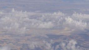 Góry pustyni krajobraz, odgórny widok od samolotu zbiory wideo