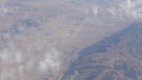 Góry pustyni krajobraz, odgórny widok od samolotu zbiory