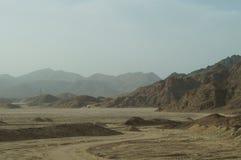 Góry, pustynia, Egipt Obrazy Royalty Free