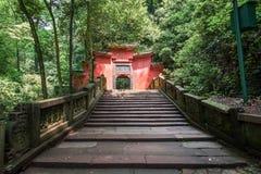 Góry Qingcheng sceneria Fotografia Stock