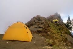 Góry rinjani wycieczka z amaizing widokiem przy krateru także jeziorem przy segara anak i obręczem sembalun i senaru Obraz Stock