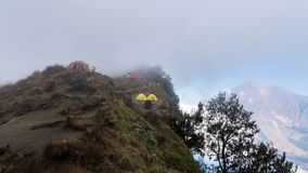 Góry rinjani wycieczka z amaizing widokiem przy krateru także jeziorem przy segara anak i obręczem sembalun i senaru Zdjęcie Royalty Free