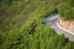 góry rowerzysta road Obraz Royalty Free