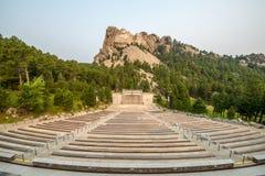 Góry Rushmore Krajowa Pamiątkowa rzeźba & amfiteatr Obrazy Stock