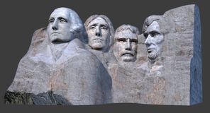 Góry Rushmore zabytek 3D odpłaca się ilustracji