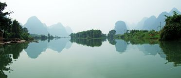 góry rzeki cienie Zdjęcie Royalty Free