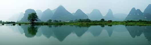 góry rzeki cienie obraz royalty free