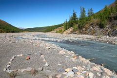 góry rzeki lasu Fotografia Stock