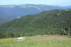Góry schronienie fotografia royalty free