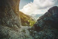 góry skaliste krajobrazowe Obrazy Royalty Free