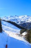 góry snow zima Meribel ośrodek narciarski Fotografia Stock