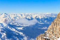 góry snow zima Meribel ośrodek narciarski Zdjęcia Royalty Free