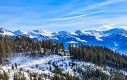 góry snow zima Ośrodek narciarski Hopfgarten, Tyrol, Au Zdjęcia Royalty Free