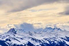 góry snow zima Ośrodek narciarski Hopfgarten, Tyrol, Au Obrazy Royalty Free