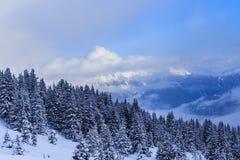 góry snow zima Ośrodek Narciarski Laax Obraz Royalty Free