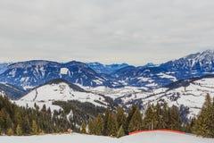 góry snow zima Ośrodek narciarski Soll, Tyrol Obraz Royalty Free