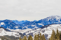 góry snow zima Ośrodek narciarski Soll, Tyrol Obrazy Royalty Free