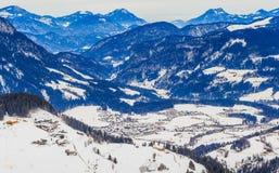 góry snow zima Ośrodek narciarski Soll, Tyrol Fotografia Royalty Free
