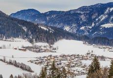 góry snow zima Ośrodek narciarski Soll, Tyrol Obrazy Stock