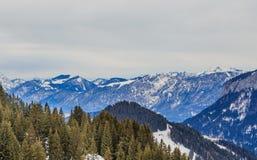 góry snow zima Ośrodek narciarski Soll, Tyrol Zdjęcie Stock