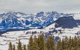 góry snow zima Ośrodek narciarski Soll, Tyrol Zdjęcia Royalty Free