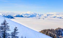 góry snow zima Ośrodek narciarski Soll, Tyrol Obraz Stock