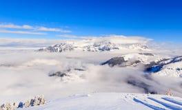 góry snow zima Ośrodek narciarski Soll, Tyrol Zdjęcia Stock